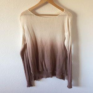 Brandy Melville Ombré Distressed Sweater